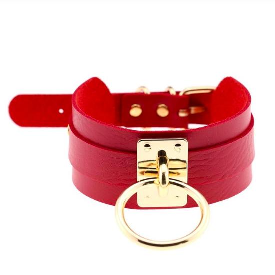 Halsband mit Ring in verschiedenen Farben