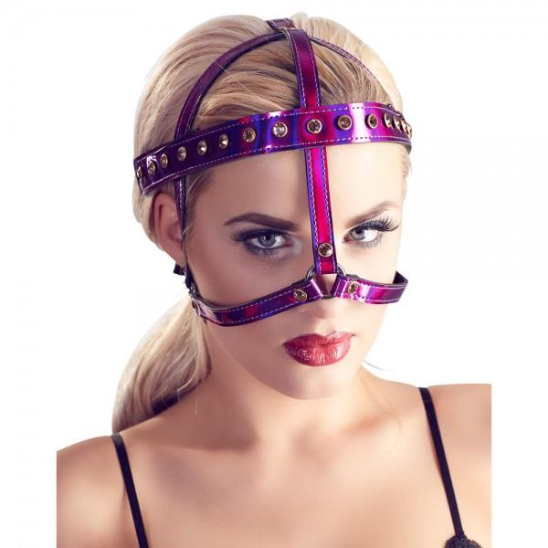Kopfgeschirr - lila glänzend