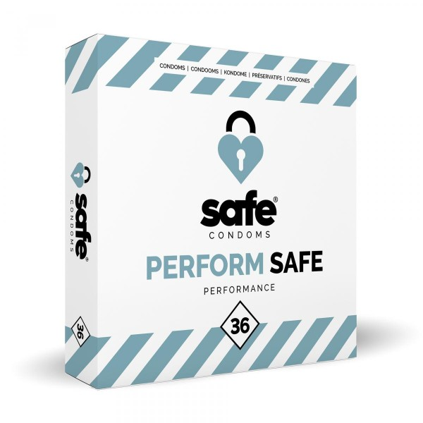 SAFE – Kondome für Orgasmusverzögerung – Performance– 36 Stück