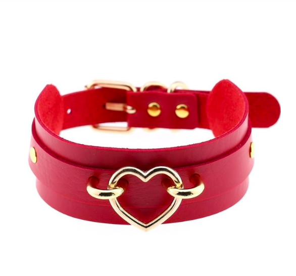 Halsband mit Herz in verschiedenen Farben