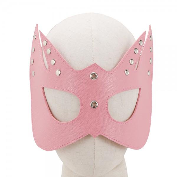 Augenmaske mit Nieten - Rosa