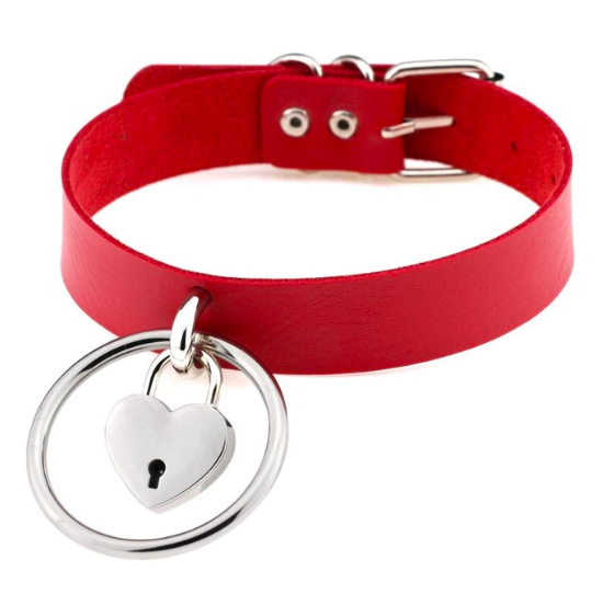 Halsband mit Herz-Schloss