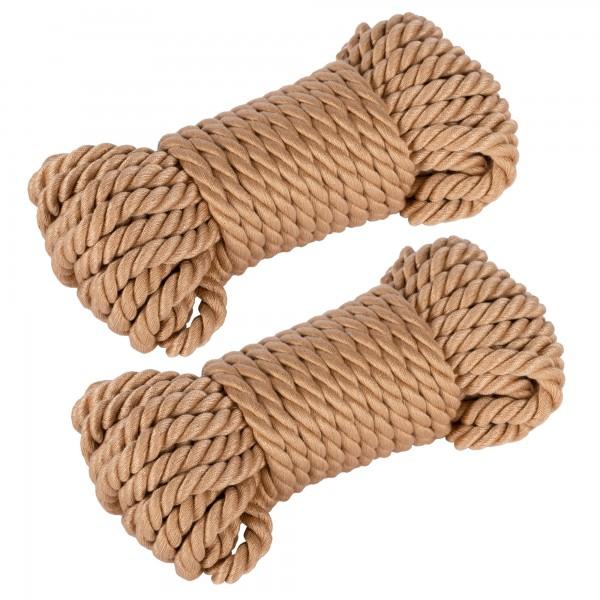 2 x 10 m weiches Bondageseil aus Baumwolle